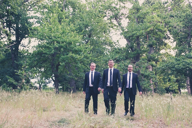 Navy Blue Groomsman Attire :: Outdoor Forest Wedding ceremony :: Ruby Jean Photography :: See more on Confetti Daydreams Wedding Blog