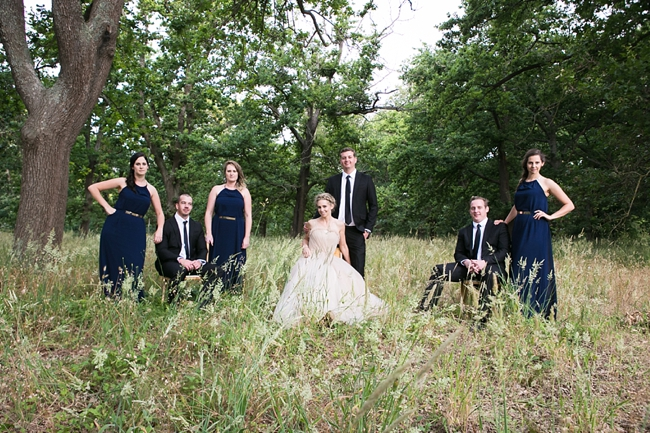 Navy Blue Bridal Party Outfits :: Outdoor Forest Wedding ceremony :: Ruby Jean Photography :: See more on Confetti Daydreams Wedding Blog