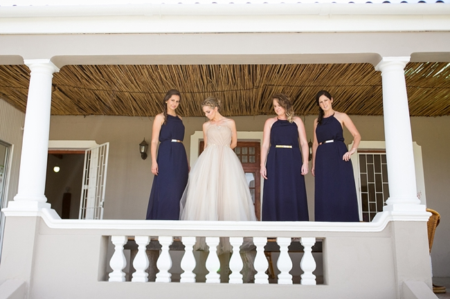 Navy Blue Bridesmaids :: Eco Friendly Outdoor Grabouw Wedding, Cape Town :: Ruby Jean Photography :: See more on Confetti Daydreams Wedding Blog