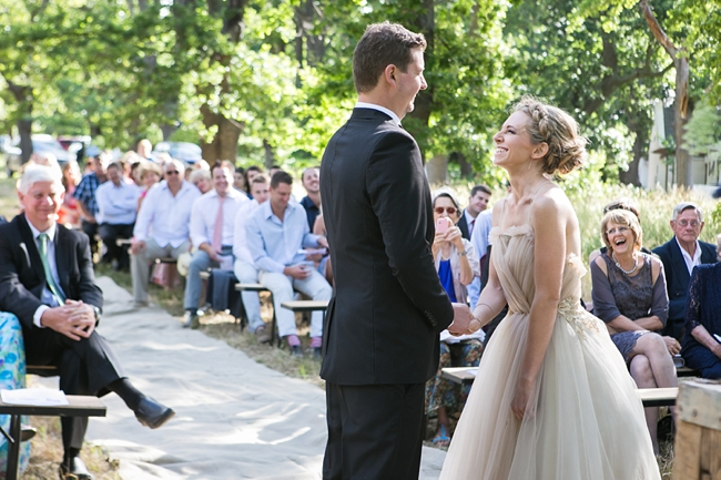 Gorgeous Eco Friendly Outdoor Forest Wedding ceremony :: Ruby Jean Photography :: See more on Confetti Daydreams Wedding Blog