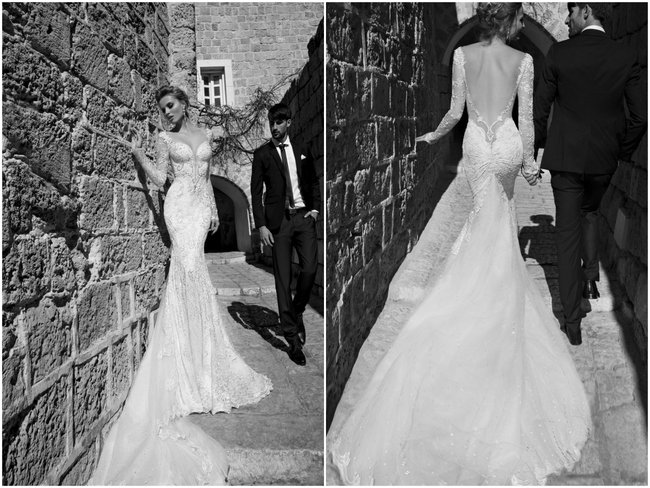 Galia Lahav Wedding Dress - Navona Gown Long Sleeves & Backless