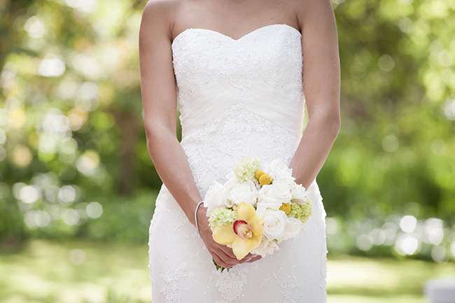 Bouquet Pale Yellow, White & Coral Winelands Destination Wedding (South Africa) :: Joanne Markland Photography :: ConfettiDaydreams.com Wedding Blog