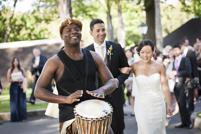 Traditional Zulu Ceremony Music :: Pale Yellow, White & Coral Winelands Destination Wedding (South Africa) :: Joanne Markland Photography :: ConfettiDaydreams.com Wedding Blog