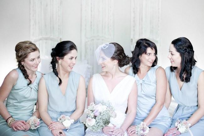 Powder Blue Bridesmaids :: :: Pretty Pastel and Powder Blue DIY South African Wedding captured by Nadine Aucamp Photography :: Published on Confetti Daydreams Wedding Blog