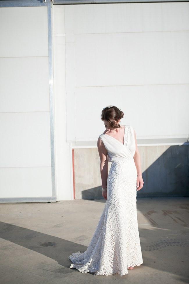 Elegant wedding dress  :: Pretty Pastel and Powder Blue DIY South African Wedding captured by Nadine Aucamp Photography :: Published on Confetti Daydreams Wedding Blog