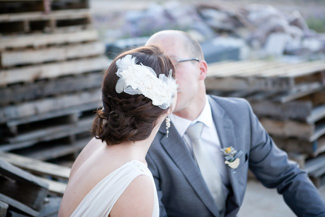 Pretty White Headpiece  ;; Pretty Pastel and Powder Blue DIY South African Wedding captured by Nadine Aucamp Photography :: Published on Confetti Daydreams Wedding Blog