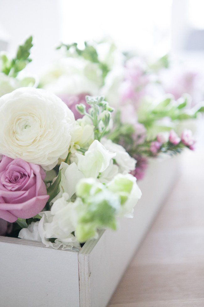 Pink, lavender and white floral centerpiece - wedding decor  :: Pretty Pastel and Powder Blue DIY South African Wedding captured by Nadine Aucamp Photography :: Published on Confetti Daydreams Wedding Blog