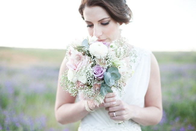 Pastel Bouquet  :: Pretty Pastel and Powder Blue DIY South African Wedding captured by Nadine Aucamp Photography :: Published on Confetti Daydreams Wedding Blog