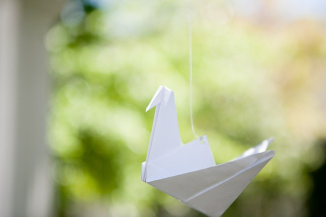 White paper cranes - 600 Origami Birds!  :: Pretty Pastel and Powder Blue DIY South African Wedding captured by Nadine Aucamp Photography :: Published on Confetti Daydreams Wedding Blog