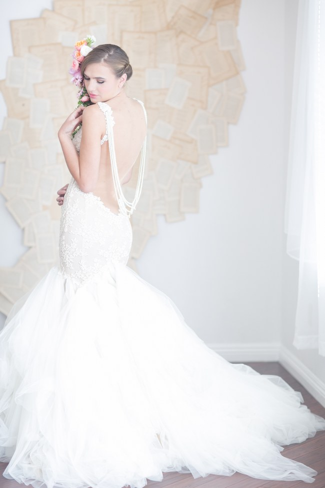 Galia Lahav 's Backless Wedding Gown - one of many Seriously HAWT and Unbelievable Backless Wedding Dresses for 2014 on ConfettiDaydreams.com