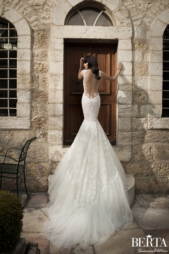 Berta's Backless Wedding Gown - one of many Seriously HAWT and Unbelievable Backless Wedding Dresses for 2014 on ConfettiDaydreams.com