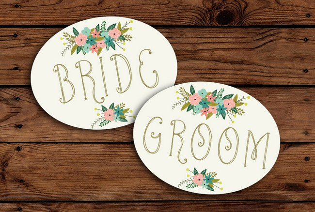 Wedding Chair Decor Covers Signs  9