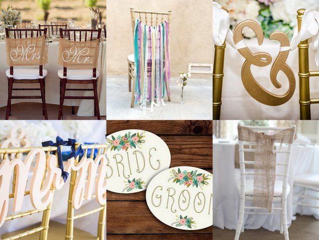 Wedding Chair Signs and Wedding Chair Covers (2)