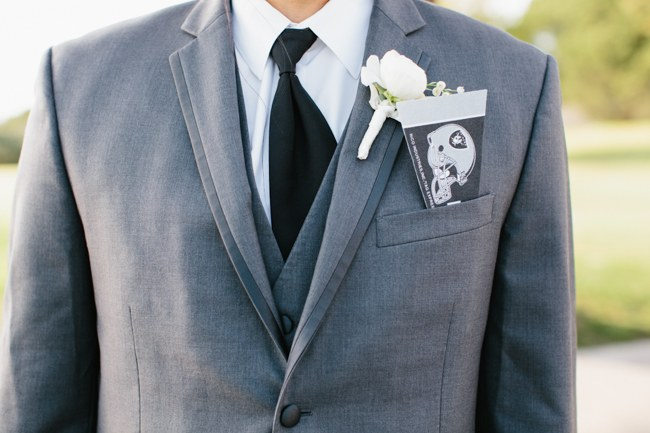 Boutonniere | Dreamy Blush Pink Grey California Wedding | Marianne Wilson Photography via ConfettiDaydreams.com