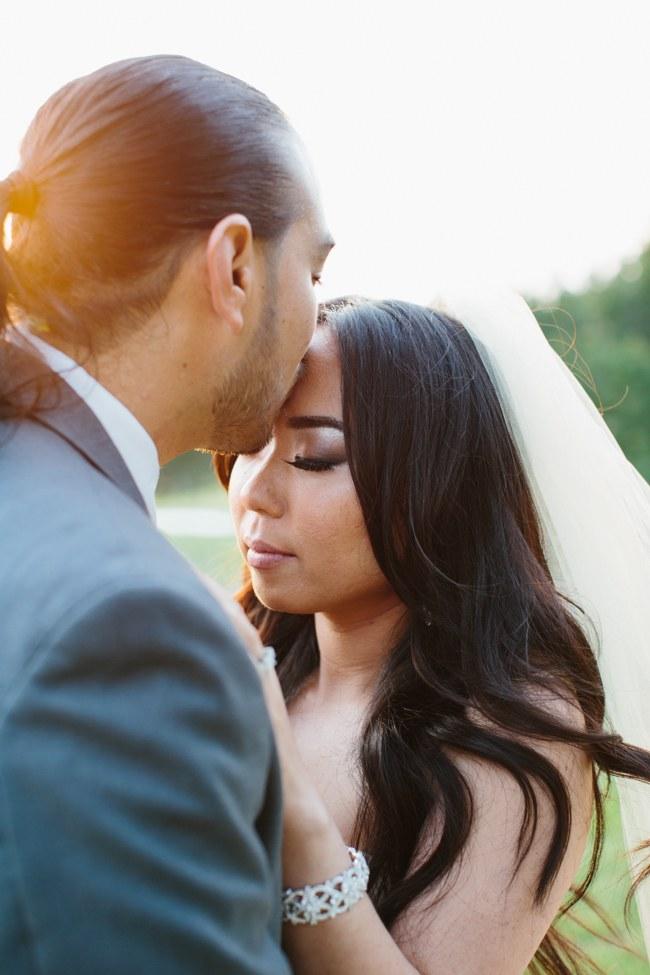 Outdoor Couple Portraits | Dreamy Blush Pink Grey California Wedding | Marianne Wilson Photography via ConfettiDaydreams.com