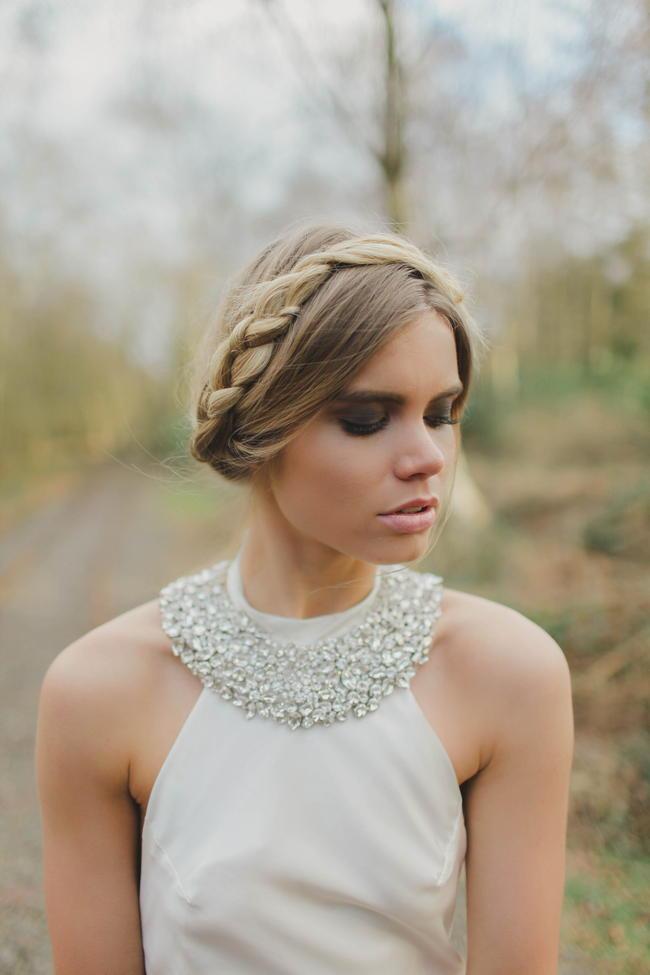 Braided updo // Bohemian Luxe - Boho Bride - Gibson Bespoke // Kirsty-Lyn Jameson Photography