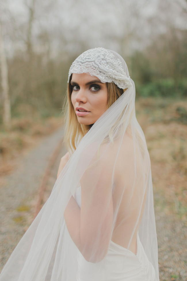 Cap veil // Bohemian Luxe - Boho Bride - Gibson Bespoke // Kirsty-Lyn Jameson Photography