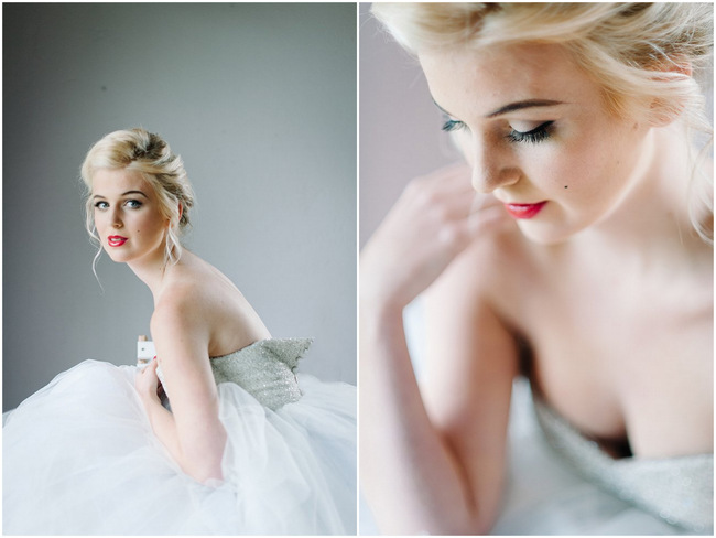 Ballerina Sitting – Marilyn Monroe Inspired Bridal Styling {Debbie Lourens Photography}