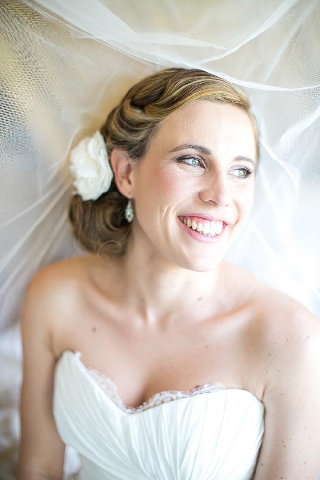 Bridal Portrait under veil // Adene Photography