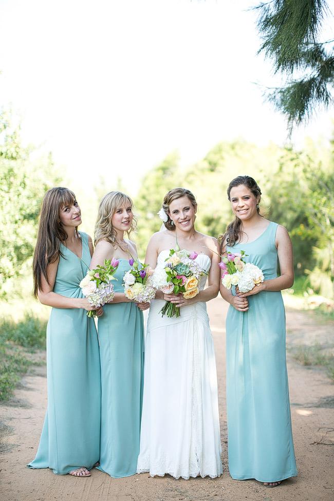 Mint Bridesmaid Dresses // Adene Photography