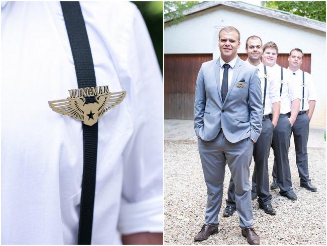 Wingman Groomsmen Badges // Adene Photography
