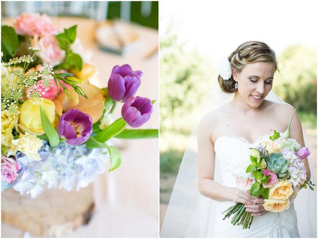 Mint Yellow Purple Tulip Garden Wedding -Olive Rock - Adene Photography (30)