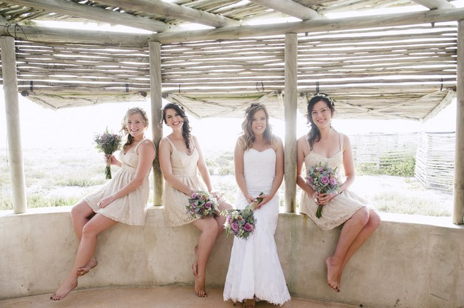 Rustic, Barefoot Beach Wedding in Lamberts Bay {Jules Morgan Photography}