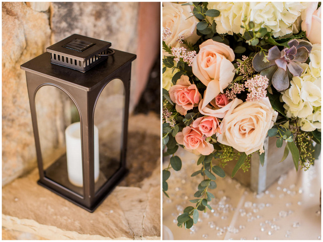 Floral Table Decor // Rustic Country Wedding in Blush Navy // Meet The Burks Photography