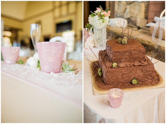 Grooms Cake // Rustic Country Wedding in Blush Navy // Meet The Burks Photography