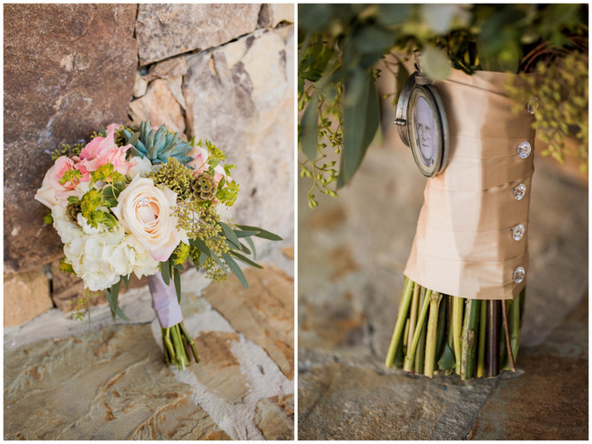 Succulent Bouquet  // Rustic Country Wedding in Blush Navy // Meet The Burks Photography