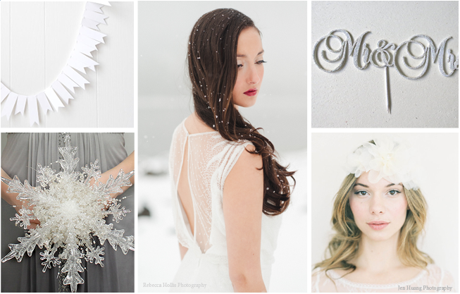 Inspiration Board: Silver & White Elegant Winter Wedding Ideas