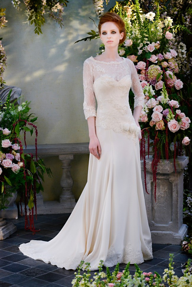 31fff3ea5e5 21 Ridiculously Stunning Long Sleeved Wedding Dresses on  ConfettiDaydreams.com    Terry Fox Gown