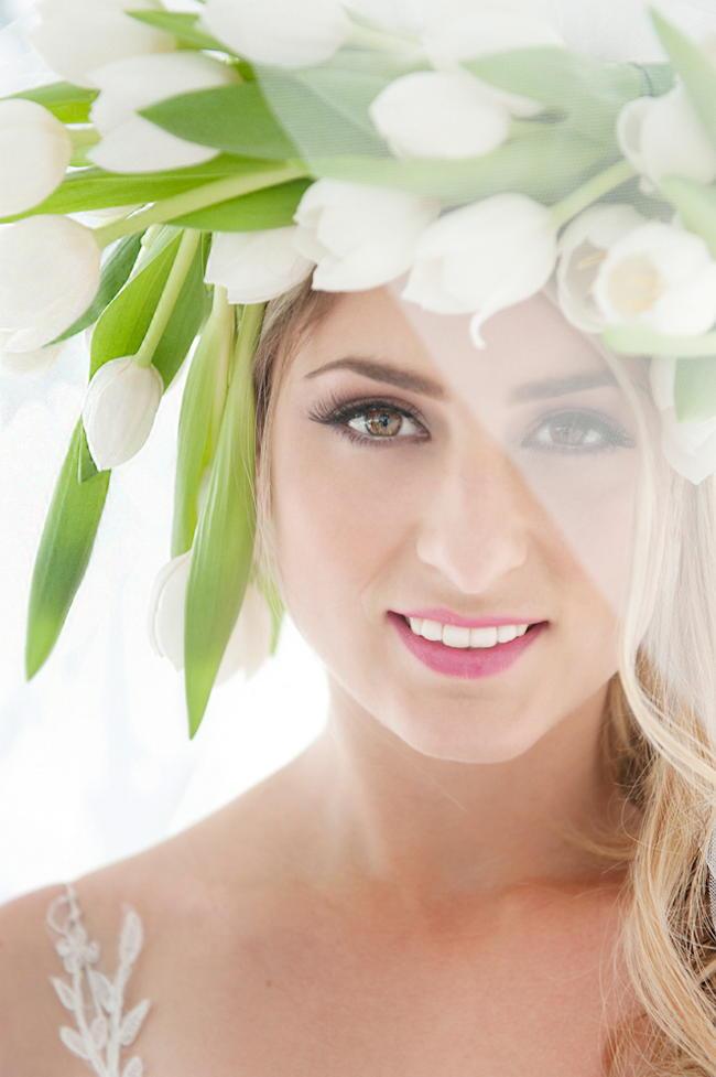 White Tulip Flower Crown by Fleur le Cordeur / ST Photography / Hair by Licia Van der Merwe / Lisa Brown Make Up /