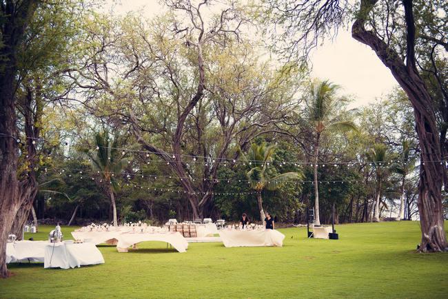 Outdoor Wedding Reception // Rustic Coral & Mint Destination Beach Wedding Reception // BellaEva Photography