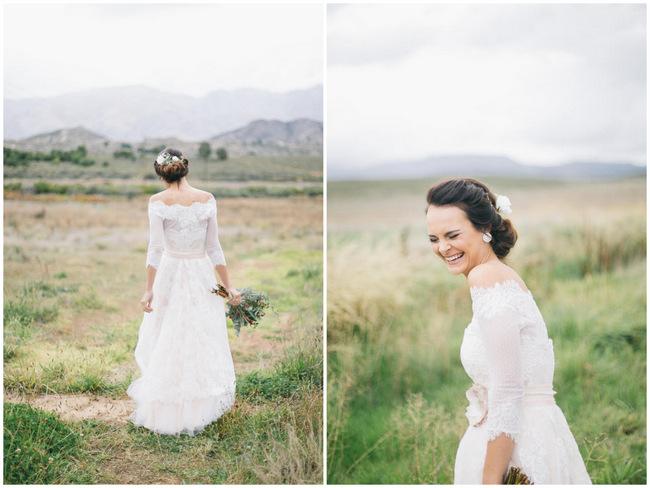 Boho Wedding Dress //  Earthy Farmstyle Rustic Wedding // Jenni ELizabeth Photography