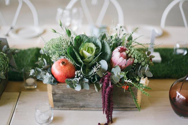 Market Style Bohemian Table Decor & Flower Ideas // Earthy Farmstyle Rustic Wedding // Jenni Elizabeth Photography