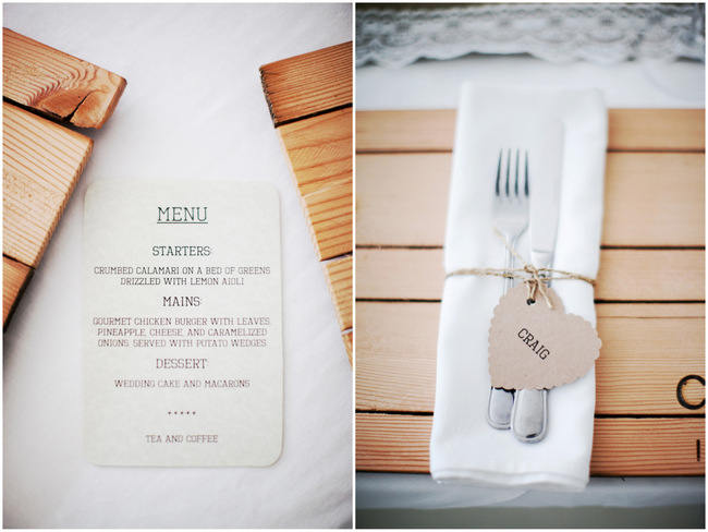 Wood Place Mats //Organic Grey and Green Wedding Reception Decor at Silvermist, Cape Town // Moira West Photography