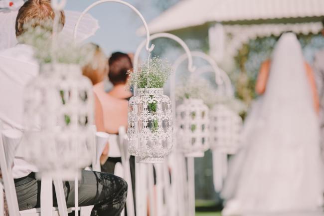Beautiful Outdoor Wedding Reception // Elegant Grey and Burgundy Vintage Wedding at Nantes Estate // Charlene Schreuder Photography