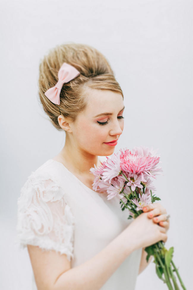 Cute Pink And White Retro Sixties Inspired Wedding Ideas Ping Photography