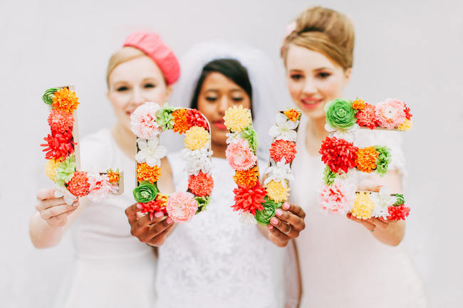 Cute Pink and White Sixties-Inspired Wedding Ideas {Ping Photography}