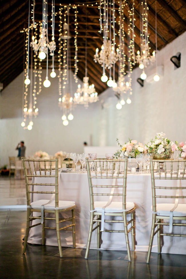 Suspended Hanging Wedding Reception Decor // Romantic South African Molenvliet Wedding in Pink and Ivory (Moira West Photography) (3)