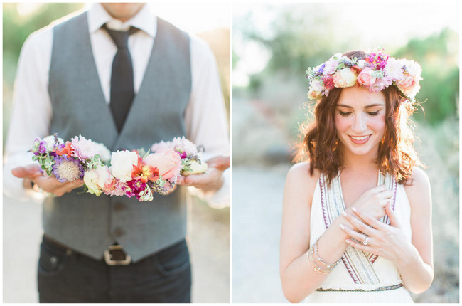 Arizona Desert Bohemian Engagement {Rachel Solomon Photography}