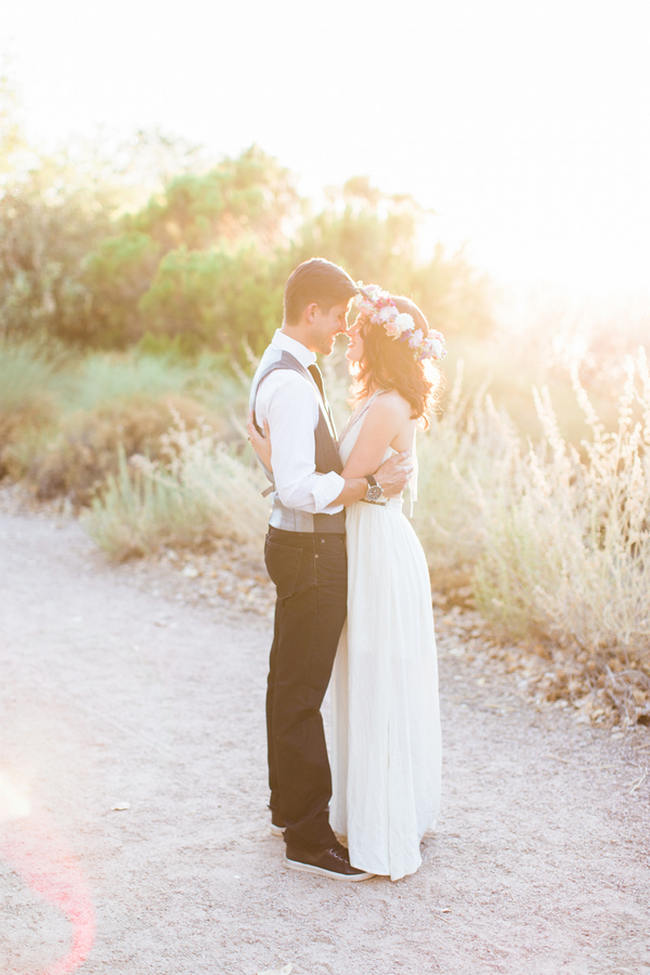 Arizona Desert Bohemian Engagement Session // Rachel Solomon Photography