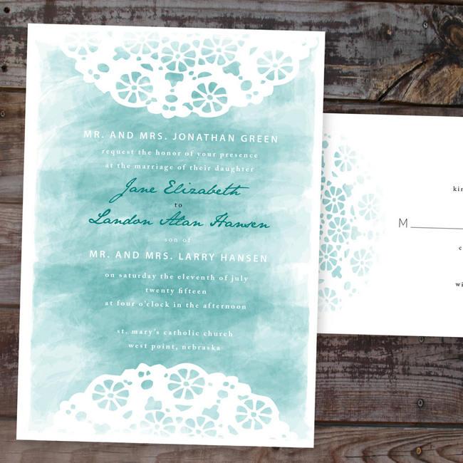 Gorgeous Watercolor Wedding Invitations 9