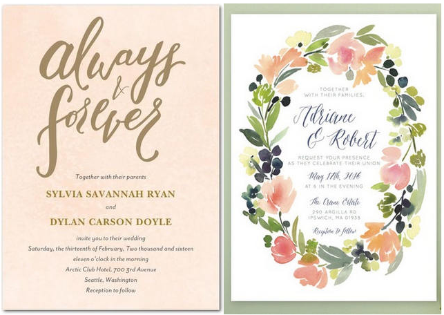 19 Totally Stunning Watercolor Wedding Invitations