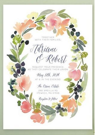 Gorgeous Watercolor Wedding Invitations_ 4