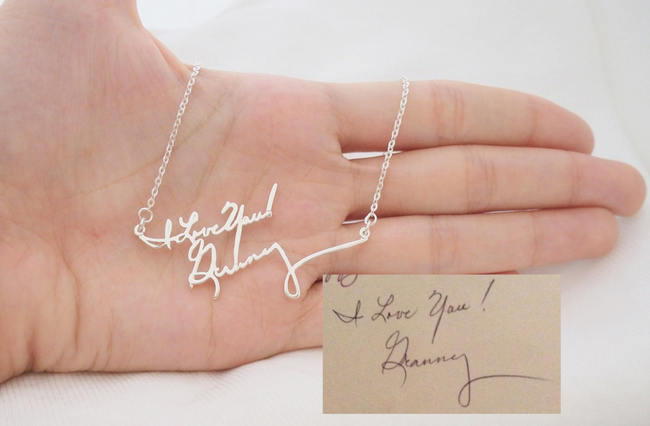 15 Stunning Handwritten Jewelry Ideas - Awesome Wedding Gift or Bridesmaid Gift
