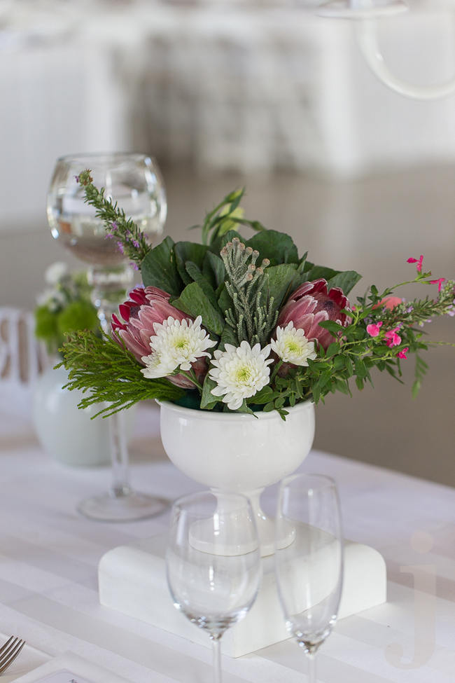 Green, pink and white - Fresh, Modern Country Style Wedding Flowers // Jo Ann Stokes Photography