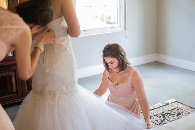 Janita Toerien Wedding Dress //  Modern Country Style Wedding Kleinplasie // Jo Ann Stokes Photography