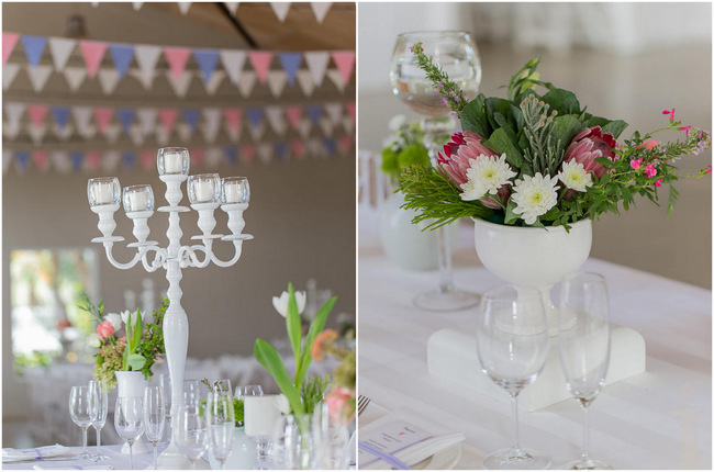 Pink, White and Green Fresh, Modern Country Style Wedding Flowers // Jo Ann Stokes Photography